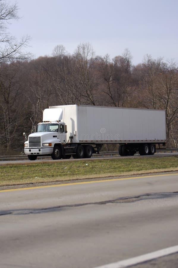 semi przyczep ciągnika ciężarówki white zdjęcie royalty free