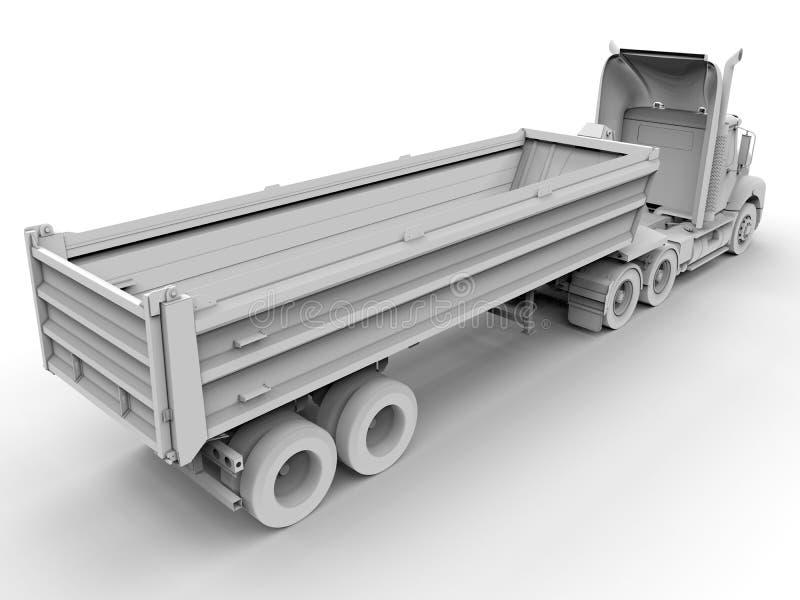 Semi-remorque de camion illustration libre de droits