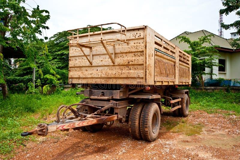 The Semi trailer car royalty free stock image