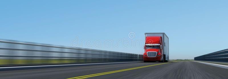 Semi-trailer na estrada ilustração royalty free