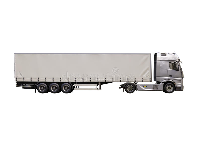 Semi-trailer truck isolated stock images