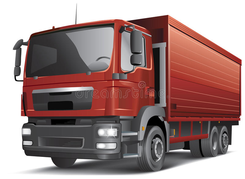 Download Semi-trailer Truck  On White Stock Vector - Image: 25685765