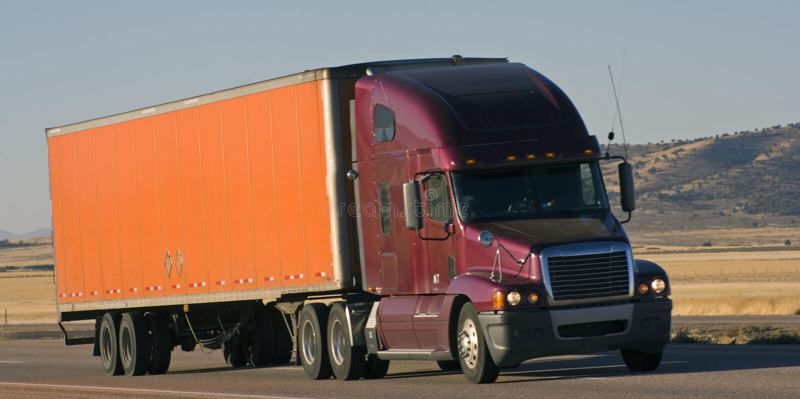 Semi-truck royalty free stock image