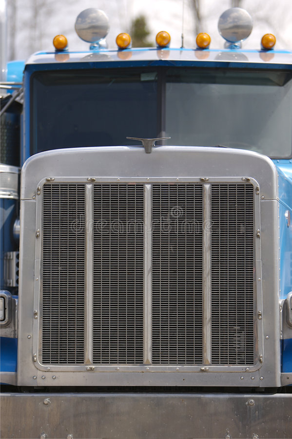 Semi Truck Front End stock photo