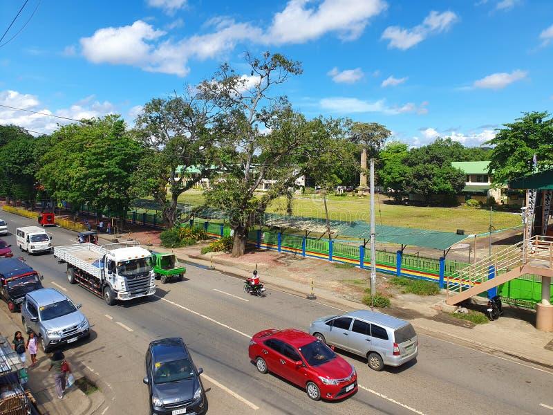 Semi-Urban Road in Davao City in Mindanao Island, Philippines royalty free stock photos