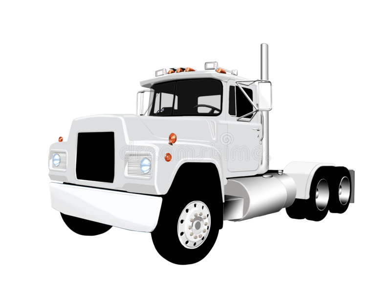 Semi vecteur de camion photos libres de droits