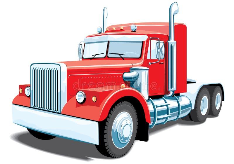 Semi vrachtwagen vector illustratie