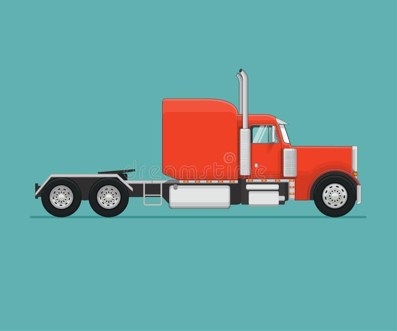 Semi Vrachtwagen Vlak gestileerde vectorillustratie stock illustratie