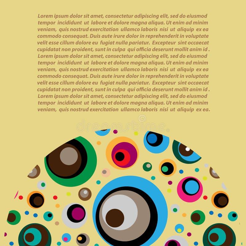 Semicerchio decorativo al fondo illustrazione vettoriale