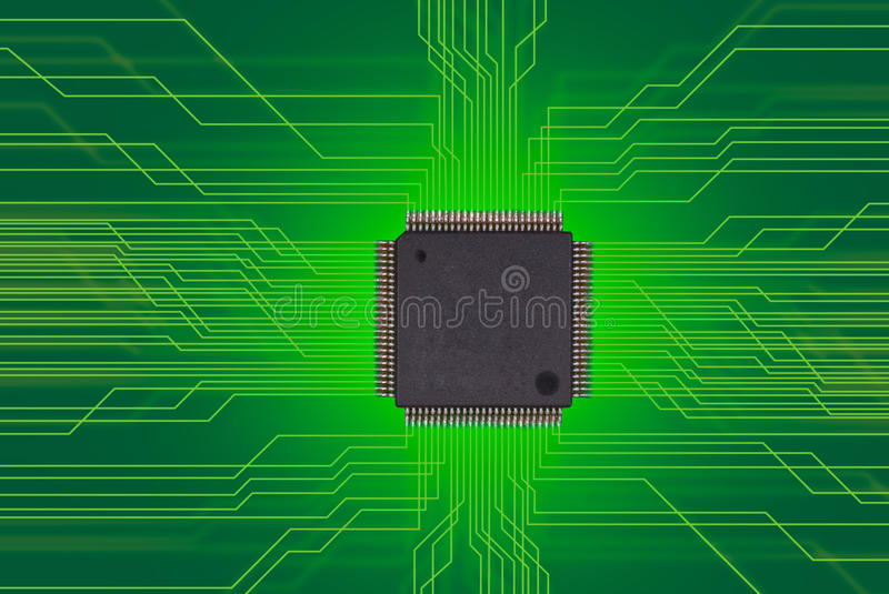 Semiconductor, chip stock image