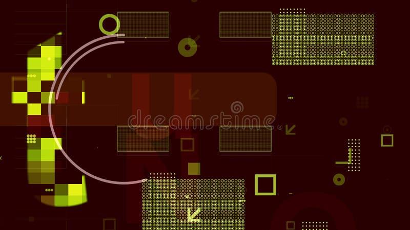 Semiconductor con los microprocesadores en el contexto de Brown libre illustration