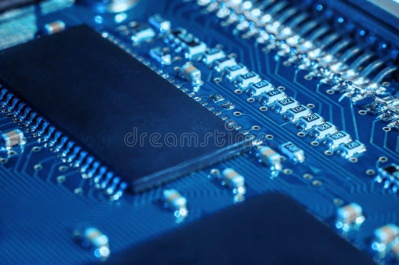 Semicondutor da placa do PWB imagem de stock royalty free