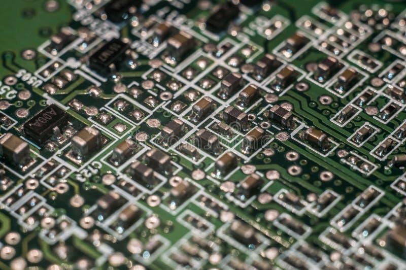 Semicondutor da placa do PWB imagem de stock