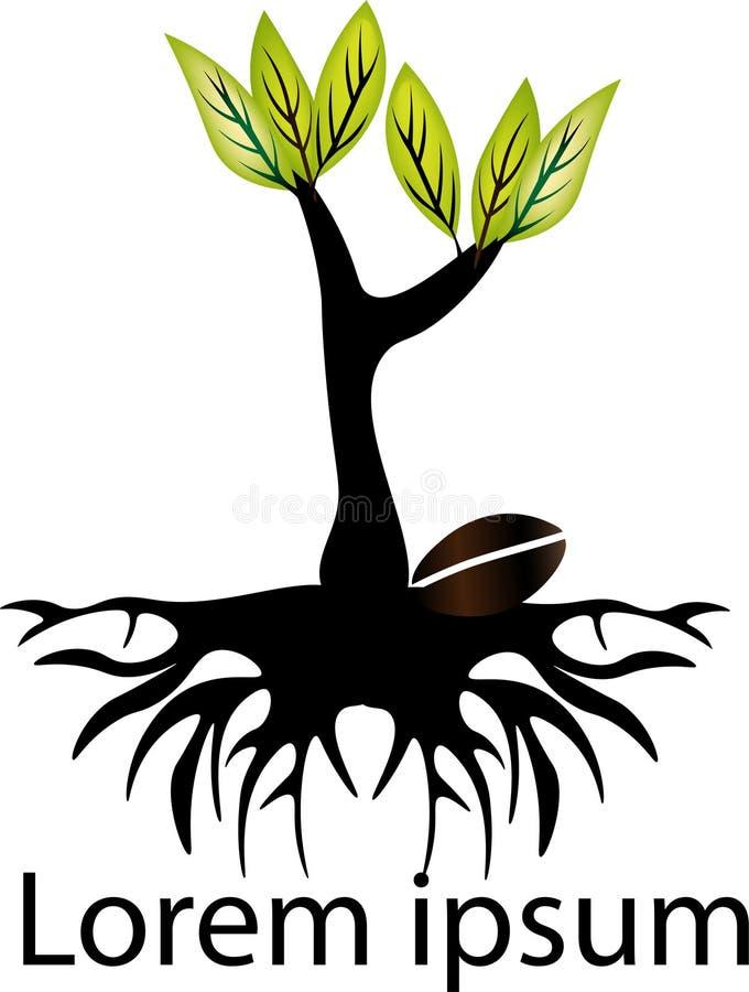 Semillas que crecen ilustración del vector