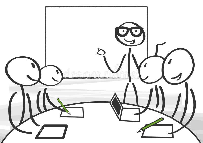 Seminário, encontrando-se ilustração stock