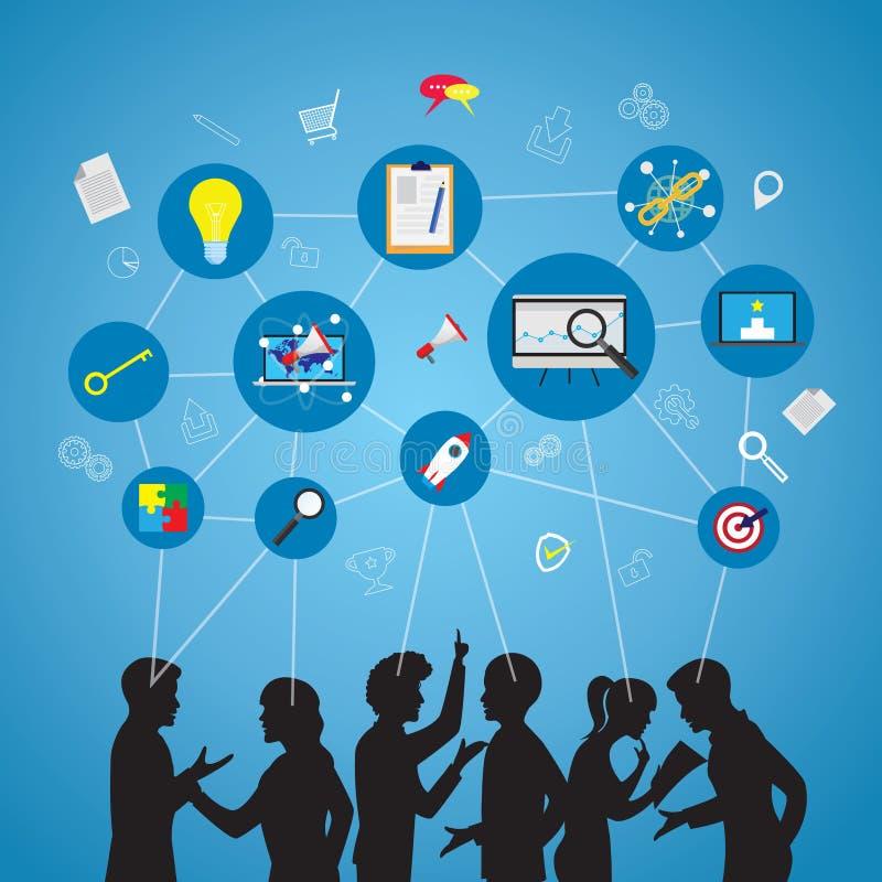 Seminário Team Work Concept do negócio ilustração do vetor