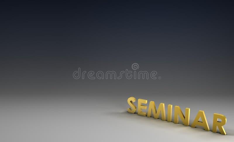 Seminar stock abbildung
