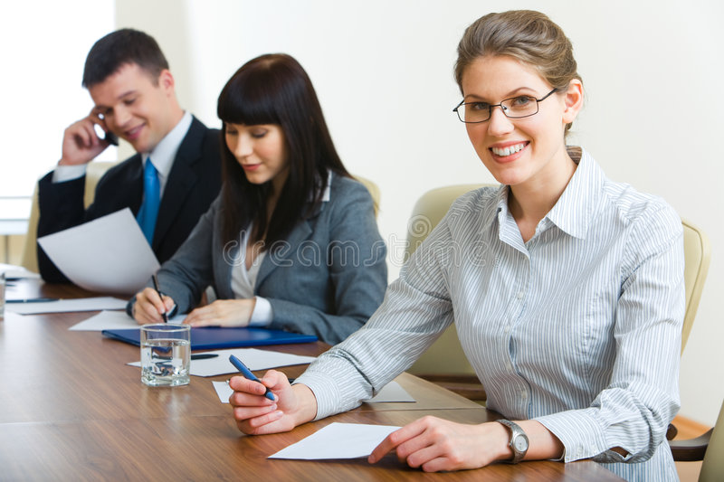 Download During seminar stock image. Image of meeting, document - 5598209