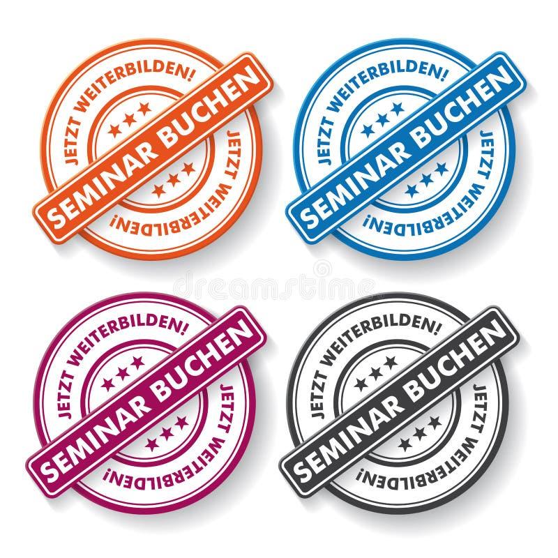 Download Seminar Booking Papper Labels Stock Vector - Illustration: 35868526