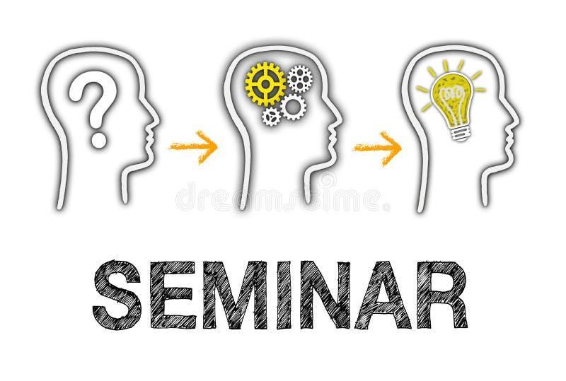 Seminar mit Geschäft Team Members stock abbildung