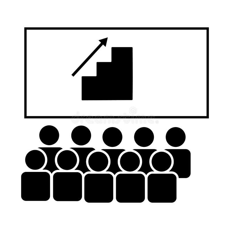 Seminar, Training, Jobikone Element der Gesch?ftsmannikone Erstklassige Qualit?tsgrafikdesignikone Zeichen und Symbolsammlungsiko lizenzfreie abbildung