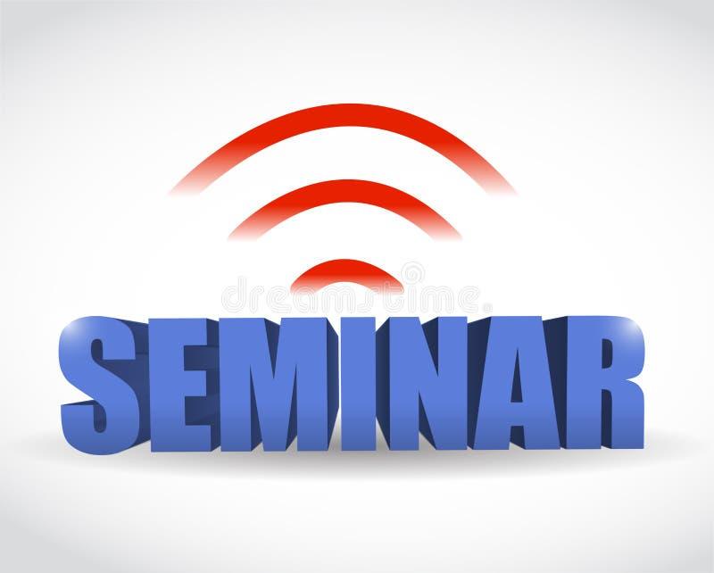 Seminar wifi Illustrationsentwurf stock abbildung