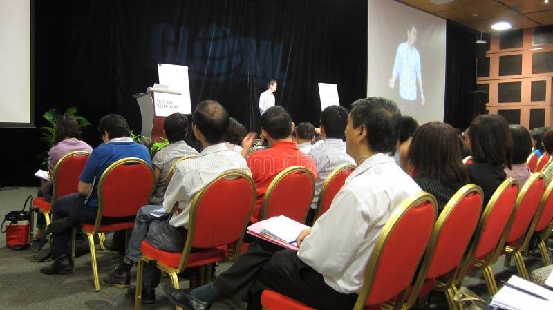 Seminarie bij de Globale Internet marketing royalty-vrije stock afbeelding