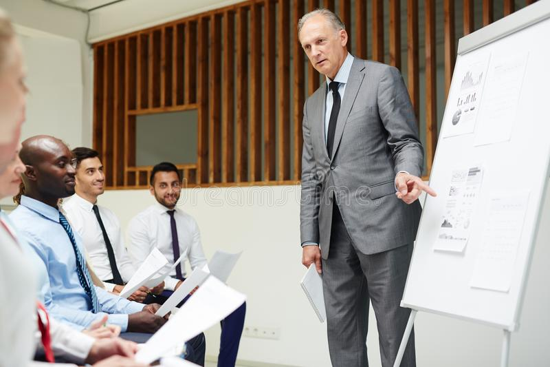 Seminarie voor bankiers royalty-vrije stock afbeeldingen