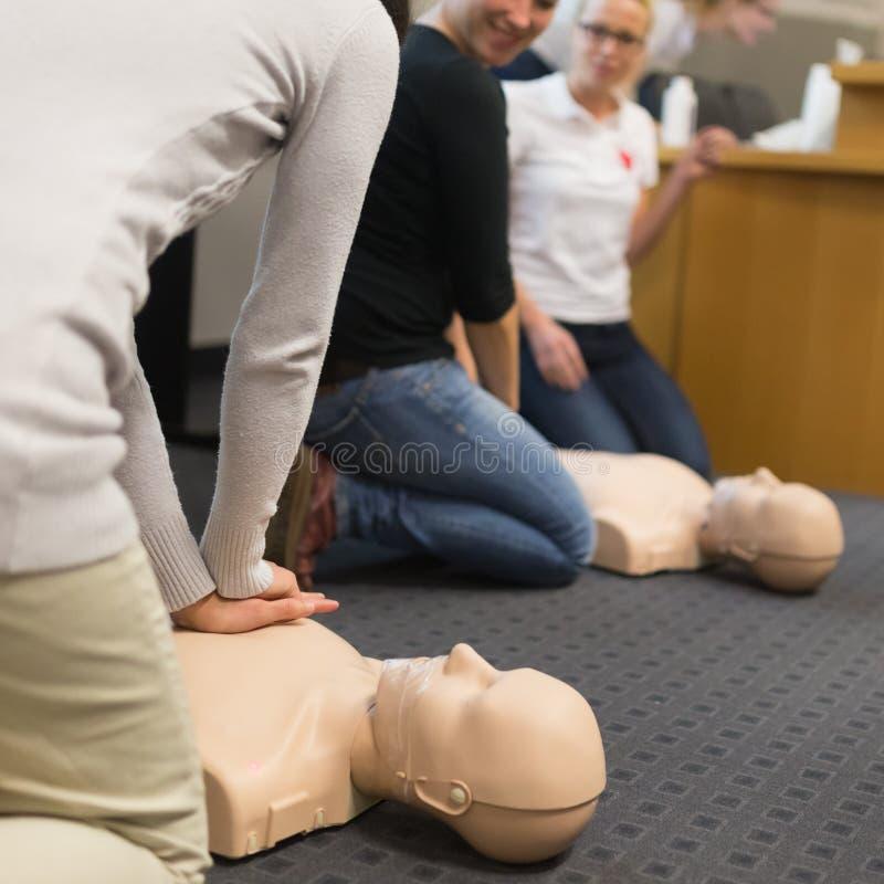 Seminario di CPR del pronto soccorso fotografia stock libera da diritti