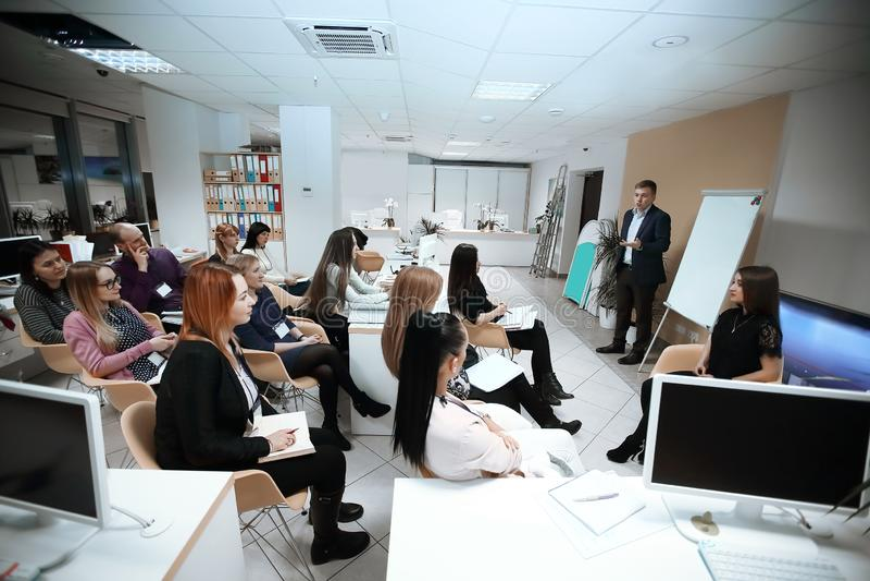 Seminario sobre el desarrollo de negocios Concepto de educaci?n Foto con el lugar para el texto foto de archivo libre de regalías