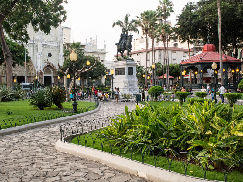 Seminariopark, Guayaquil, Ecuador royalty-vrije stock fotografie