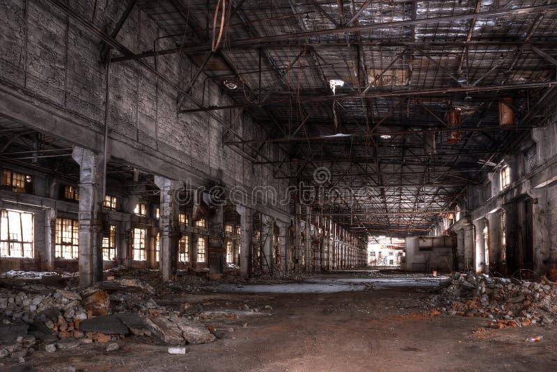 Seminarium av den övergav fabriken royaltyfria bilder