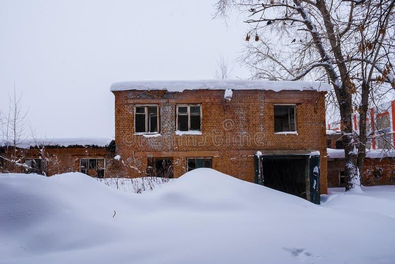 Seminarium av den övergav fabriken royaltyfri fotografi