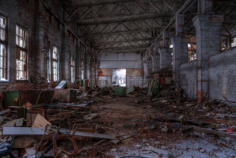 Seminarium av den övergav fabriken, HDR royaltyfri bild