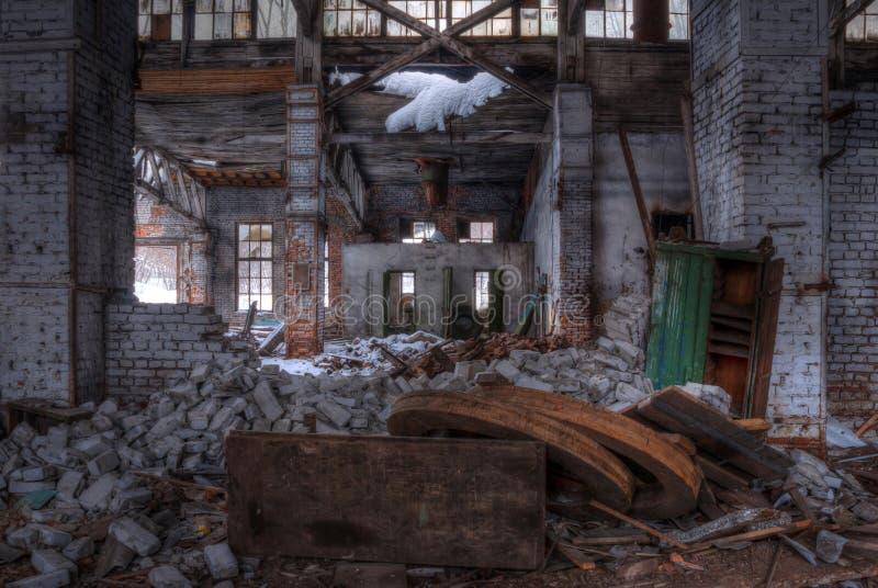 Seminarium av den övergav fabriken, HDR fotografering för bildbyråer