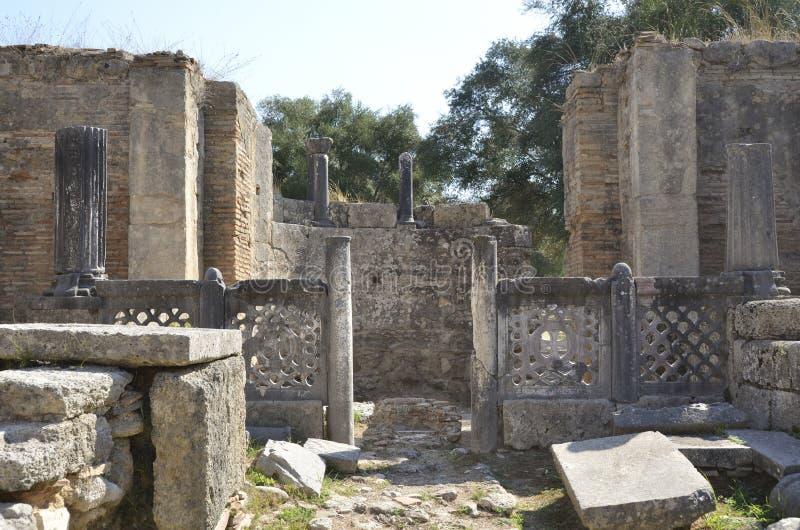 Seminarium av Phidias på Olympia arkivfoto