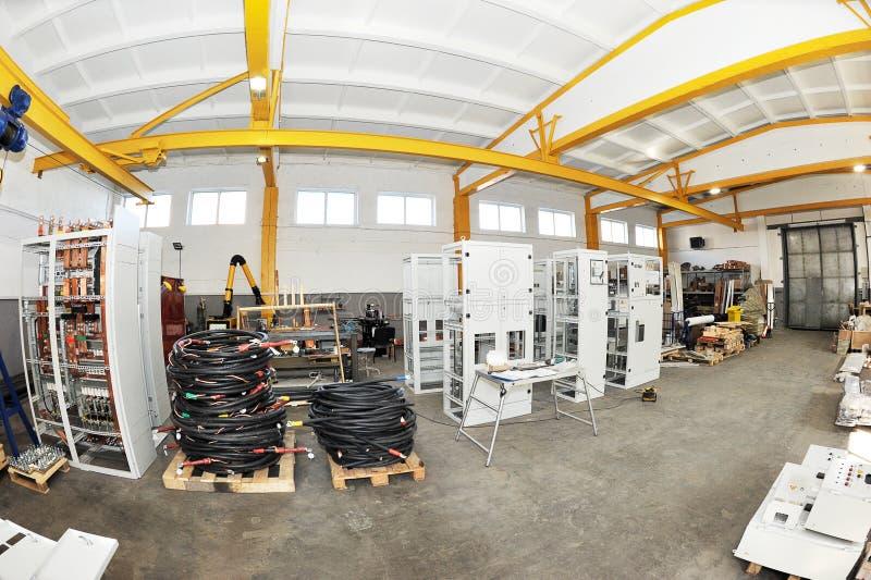 Seminarium för produktion av den elektriska panelen fotografering för bildbyråer