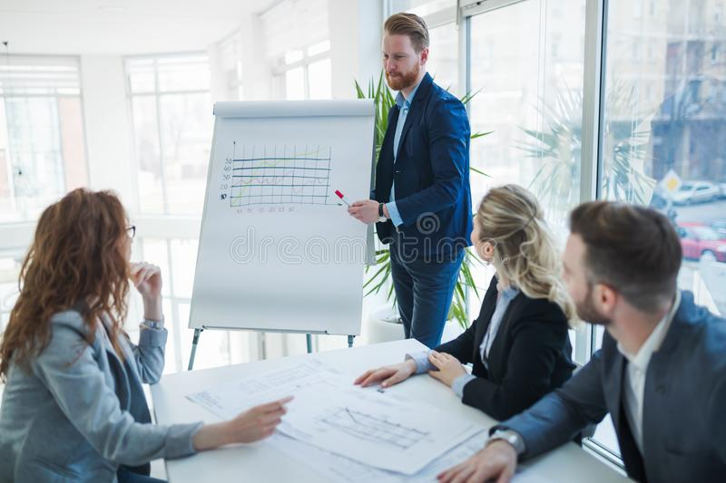 Seminars and business meetings in company office royalty free stock images