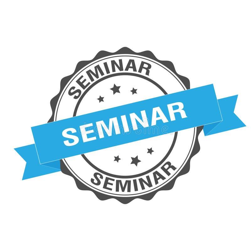 Seminarstempelillustration lizenzfreie abbildung