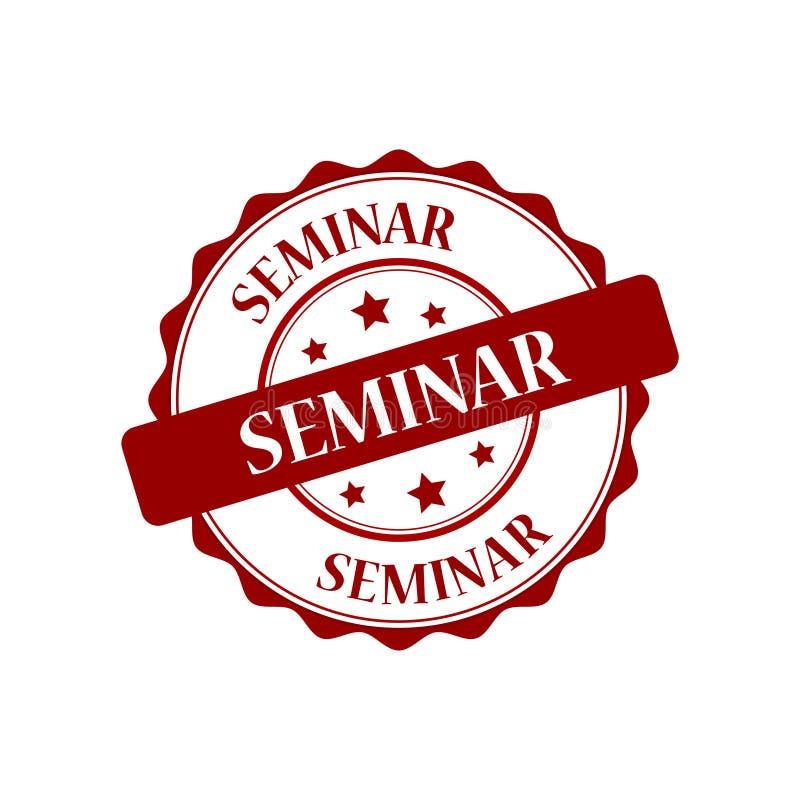 Seminarstempelillustration stock abbildung