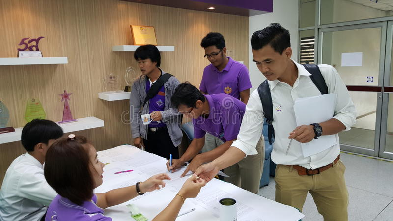 Seminaryjne osoby obecne w Tajlandia zdjęcie stock