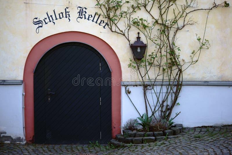 Seminterrato Wehen del castello fotografia stock