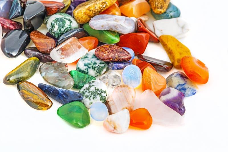 Semiprecious naturalni kamienie zdjęcie royalty free