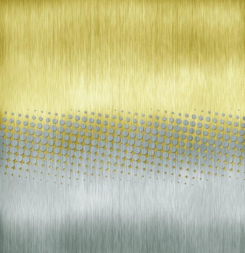 Semitono dorato illustrazione di stock