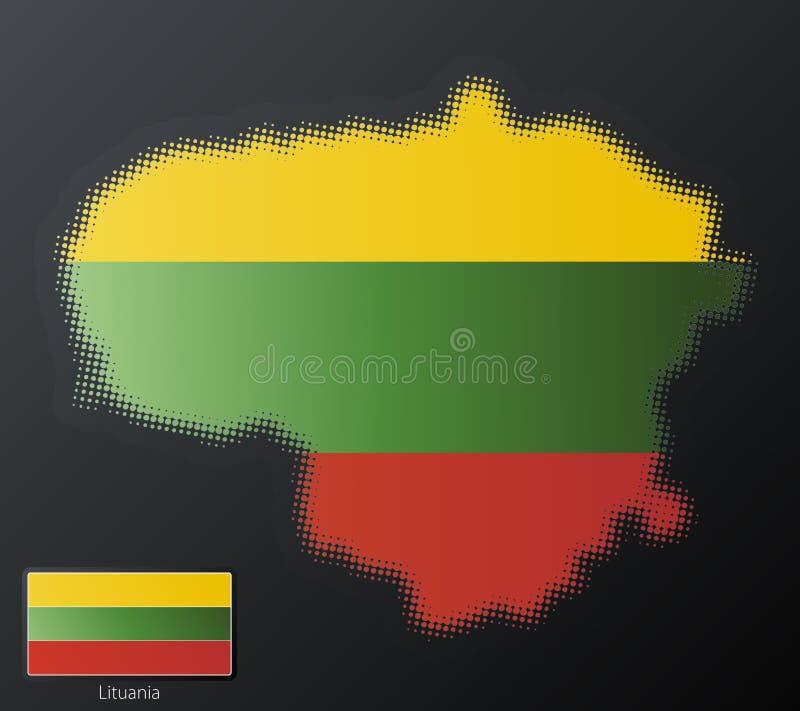 Semitono moderno di Lituania illustrazione vettoriale