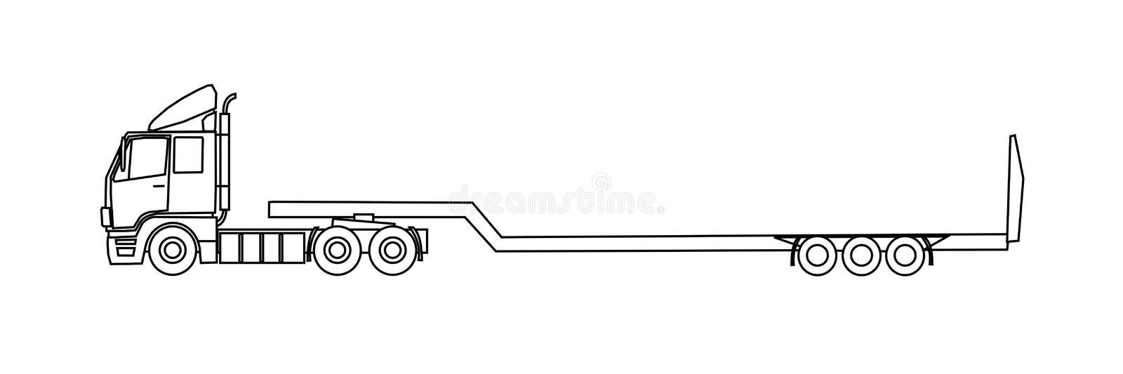 Download Semitrailer truck stock vector. Illustration of load - 23283783