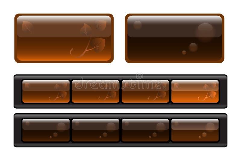 Semitransparent Tasten vektor abbildung