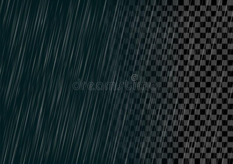 Semitransparent vector rain effect isolated. vector illustration