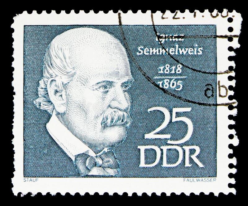 Semmelweis, Ignaz Philipp,著名人serie,大约1968年 免版税库存照片
