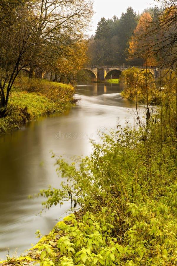 Semois το φθινόπωρο στοκ φωτογραφίες